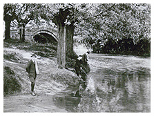 Old picture of the packhorse bridge