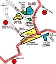 Map of parking in Thirsk