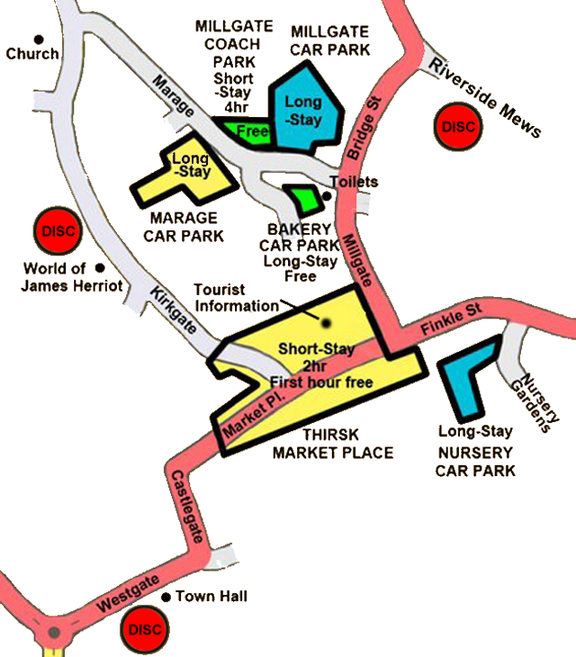 Thirsk car park map